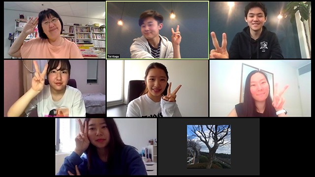 蘭塾の様子 オンライン授業風景
